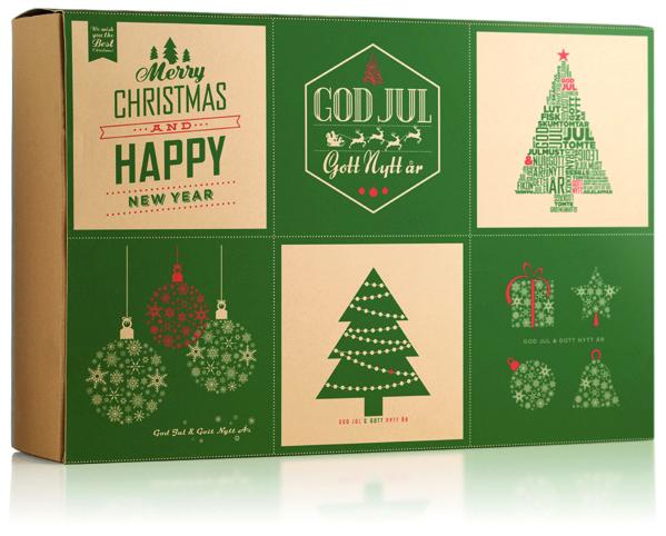Jullåda med julkort! Klipp ut och skicka till nära och kära!