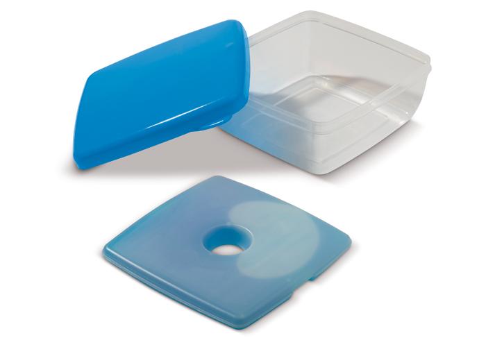 Lunchlåda med blått lock