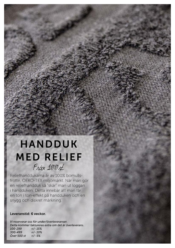 Handduk med relief